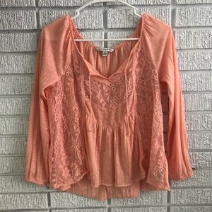 American Eagle Lace accented blouse.